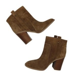 Nine West Rust Brown Suede Leather Boots
